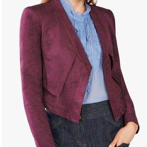 BCBGMaxAzria burgundy red suede crop jacket